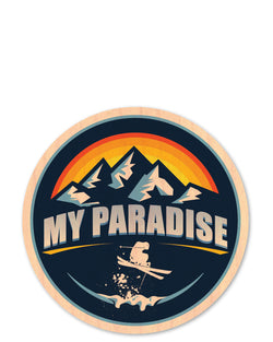 my paradise bottle tat™ (wood sticker!)
