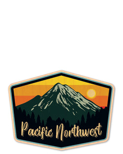 pacific northwest bottle tat™ (wood sticker!)