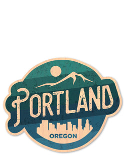portland bottle tat™ (wood sticker!)