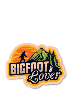 big foot lover bottle tat™ (wood sticker!)