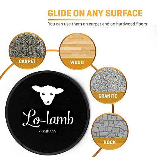 Lo-Lamb Core Sliders plus FREE Lo-Lamb Disc Workout Plan