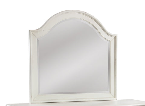 American WoodCrafters Rodanthe Landscape Mirror in Dove White 3910-040