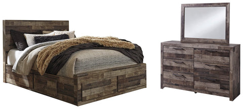 Derekson Benchcraft 5-Piece Bedroom Package with 6 Storage Drawers