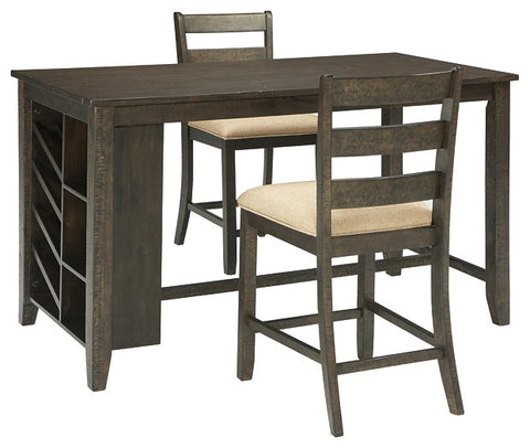 Rokane Signature Design 3-Piece Counter Height Dining Room Package image