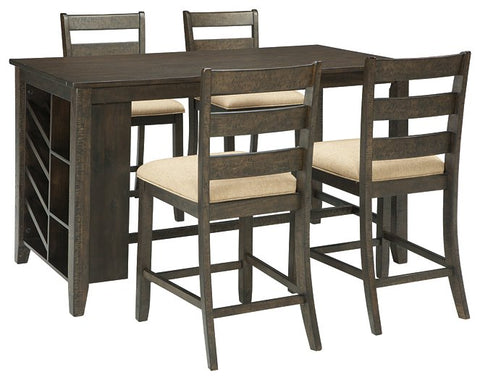 Rokane Signature Design Counter Height 5-Piece Dining Room Set image