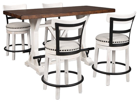 Valebeck Signature Design Counter Height 5-Piece Dining Room Set image