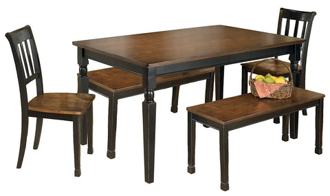 Owingsville Signature Design 5-Piece Dining Room Set with Dining Room Bench