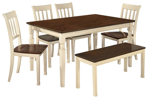 Whitesburg Signature Design 6-Piece Dining Room Set with Dining Room Bench image