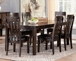 Haddigan Signature Design Dining Table 7-Piece Dining Room Package