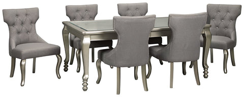 Coralayne Signature Design Dining Table 7-Piece Dining Room Package