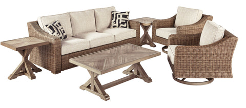 Beachcroft Signature Design 5-Piece Outdoor Conversation Set image