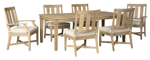 Clare View Signature Design 7-Piece Outdoor Dining Set image