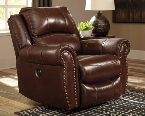 Bingen Signature Design by Ashley Power Rocker Recliner image