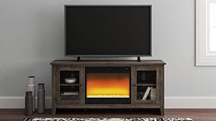 Arlenbry Signature Design by Ashley 60 TV Stand with Electric Fireplace image