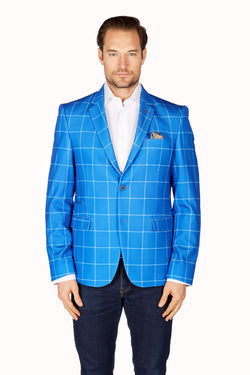 Wrinkle-Resistant Blazer - Slim Fit - Royal Blue