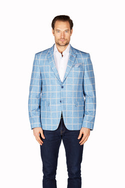 Wrinkle-Resistant Blazer - Slim Fit - Blue
