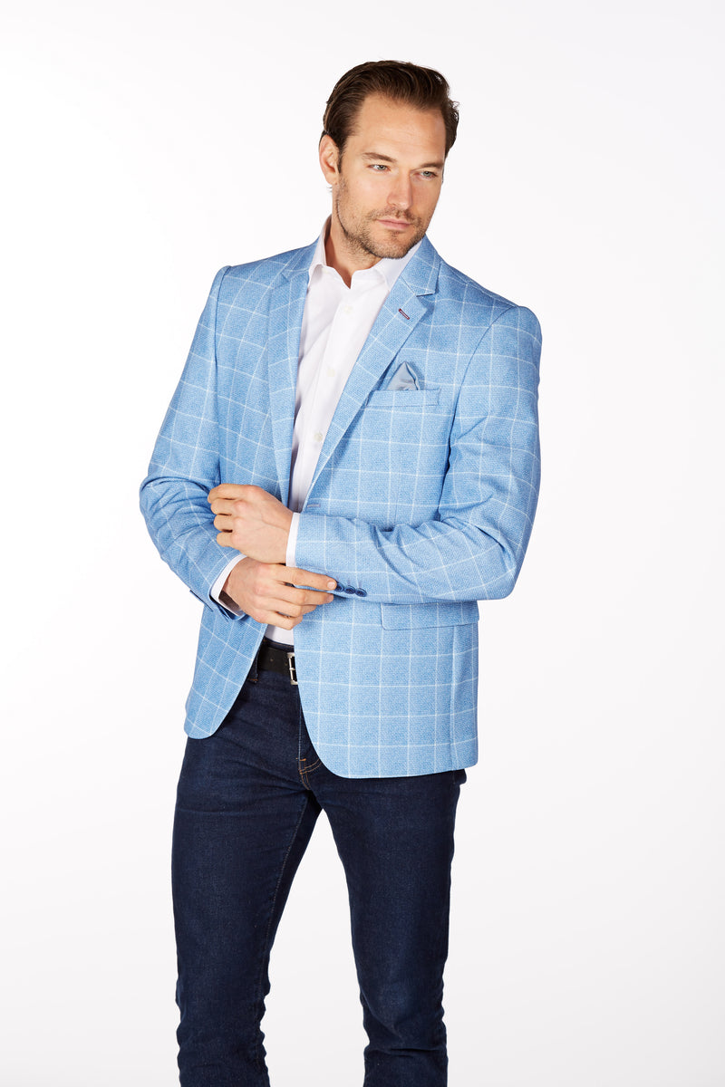 Wrinkle-Resistant Blazer - Slim Fit - BB Blue