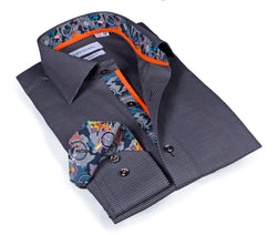 Signature Charcoal Twill Shirt - Slim Fit