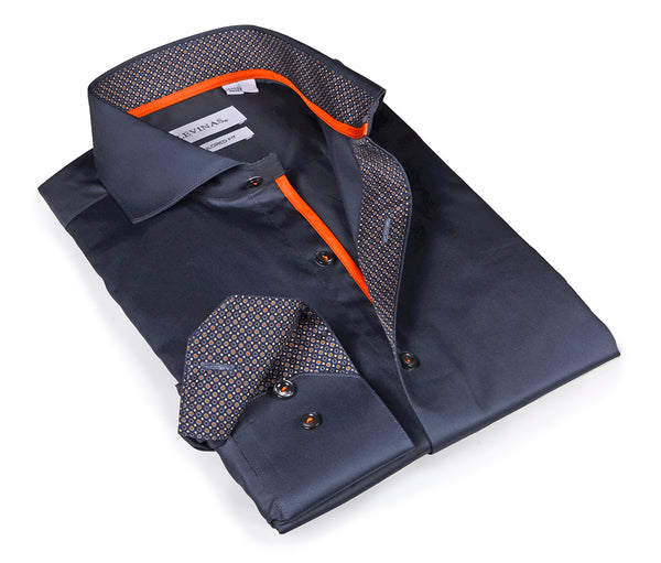 Charcoal shirt -  Tailored (Slim) Fit - Timeless Collection