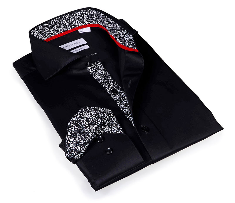Iconic Black Shirt - classic details - Slim Fit