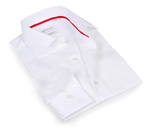 Timeless White Shirt - The cotton and tencel™ fabric - Slim Fit