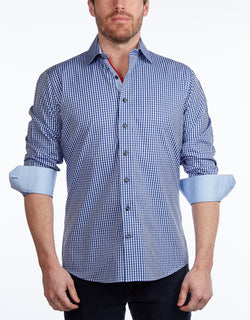 Contrast Collar Button-Up Shirt  -  Contemporary Fit - Contrast trimming