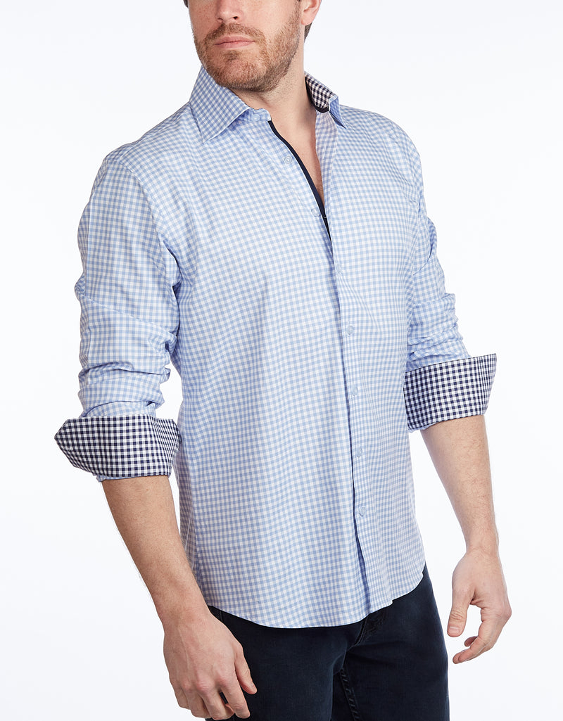 Button-Up Shirt // -  Contemporary Fit - Contrast trimming