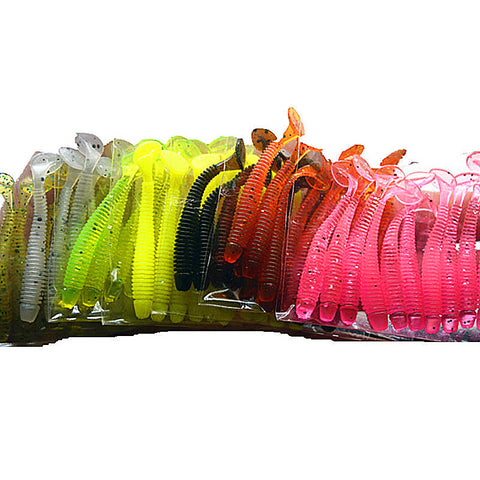 Soft Rubber Bait Fishing Soft Worm Lure 10pcs/lot 50mm 0.7g