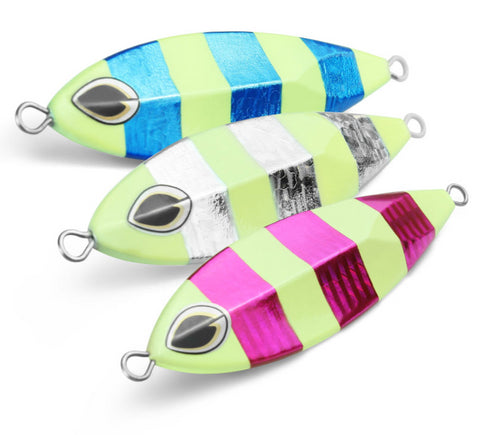 Jigging Metal Fishing Spinning Lure 40g-120g- 6 Sizes -  3 Colors
