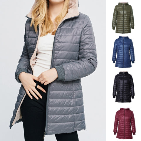 Winter Warm Parka with Fleece Hood - S-2XL - 8 Colors