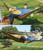 Single Double Outdoor Adult Hammock With 2 Straps 2 Carabiner - 24 Colors