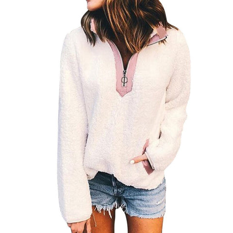 Sherpa Sweater Oversized Fleece Hooded Pullover - S-XL - 5 Colors