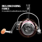 Fishing Metal Spool Spinning Reel 8KG