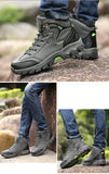 Hiking Shoes Outdoor Warm High Hunting Boots Plush Anti-skid - Sz 40-46 - 3 Colors