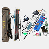 Portable 3 Layer Fishing Bags Large Capacity Fishing Pole Tools Storage Bag Nylon Waterproof Tackle Gear Carrier Shoulder Bag