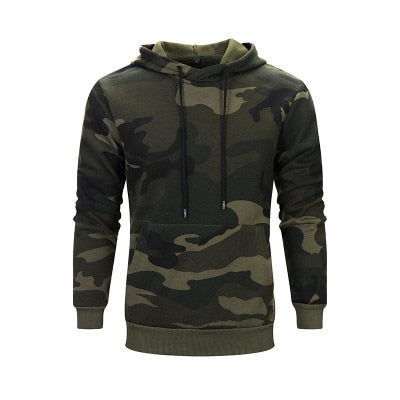 Men's Camouflage Hoodie - 4XL-8XL - 2 Colors