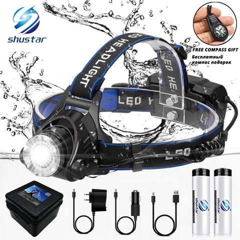 LED Zoomable Waterproof Headlamp