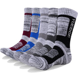 Men's Wicking Cushion Cotton Socks Sports Hiking Socks - 5 Pair/1 Pack