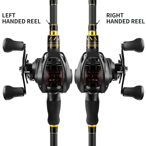 Baitcasting Reel High Speed 7.2:1 Gear Ratio 12+1BB  - Deep/Shallow - Left/Right