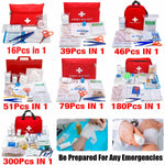 Portable 16-300Pcs Emergency Survival First Aid Kit