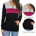 Zipper Pullovers Long-Sleeved Top - S-2XL - 3 Colors