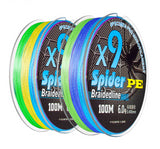 100M PE Braided Carp Fishing Line 9 Stands 19-132LB 5 Colors