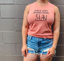 Load image into Gallery viewer, GIRLS JUST WANNA HAVE SUN RACERBACK TANK