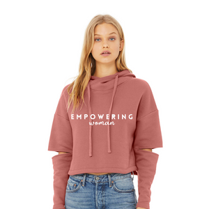 EMPOWERING WOMAN Cropped Hoodie