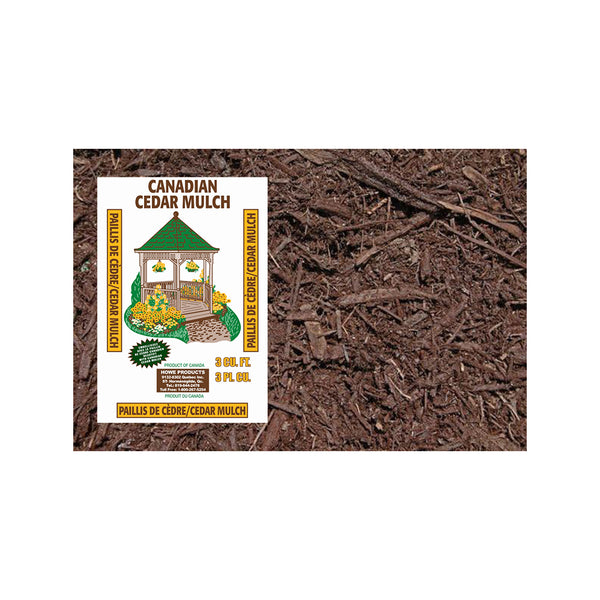 1 Bag - Brown Cedar Mulch 3 Cu. (Store Pickup Only)