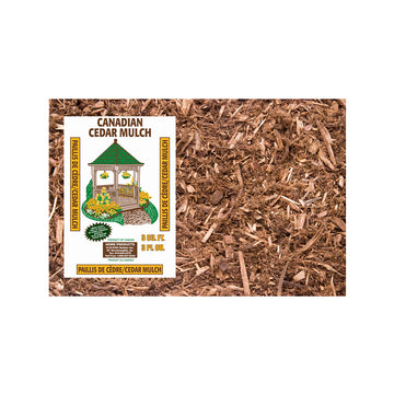 10 Bags - Natural Cedar Mulch 3 Cu. (Store Pickup Only)