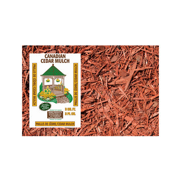 10 Bags - Red Cedar Mulch 3 Cu. (Store Pickup Only)