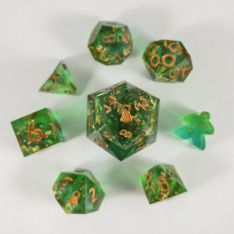 Copper Prince Dice - Resin Dice - Questing Tools