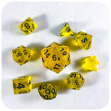 Black Badger Dice - Resin Dice - Questing Tools