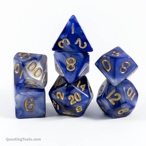 Forget Me Not Dice - Acrylic Dice - Questing Tools